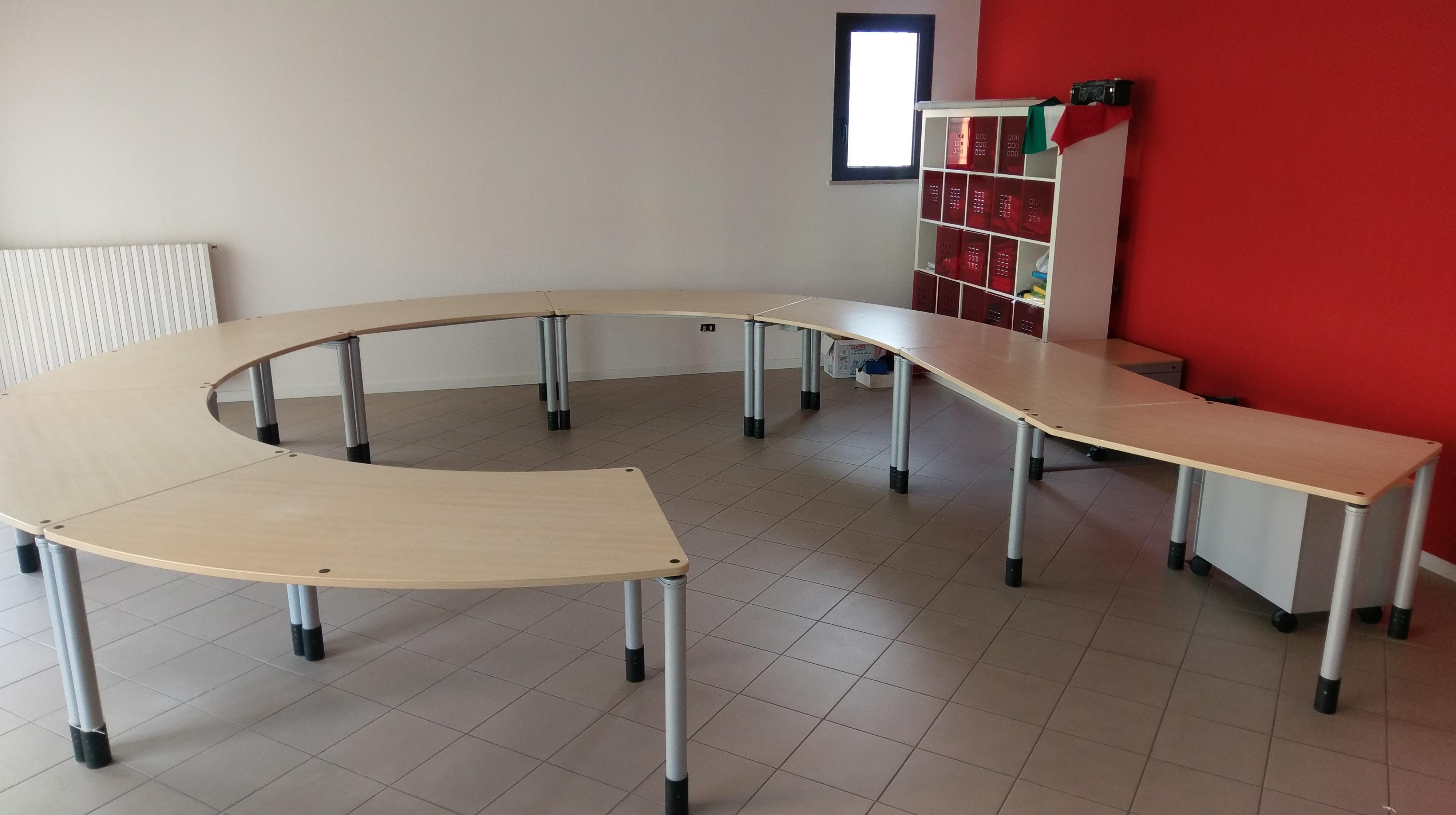 Scrivania open space 7 posti