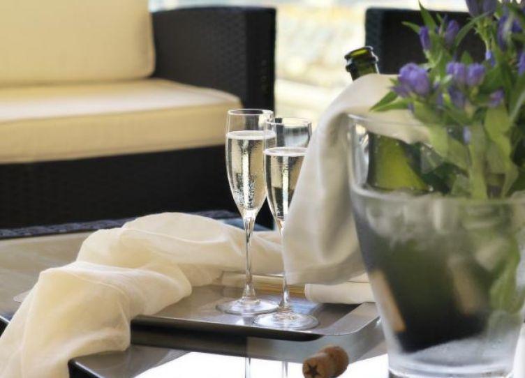 vassoio aperitivo in terrazza