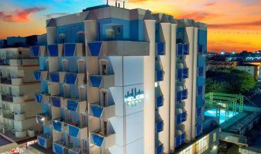 Hotel Helios esterno tramonto