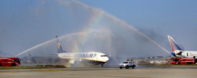 Ryanair. Primo volo in arrivo da Ryanair