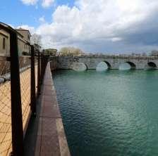 Ponte di Tiberio dalla nuova passerella
