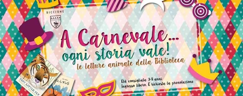 Letture di carnevale alla Bibliotecacomunale di Riccione