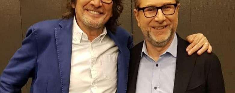Cecchetto con Fabio Fazio