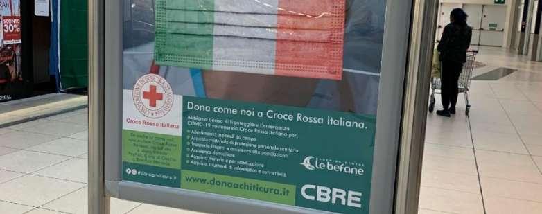 Le Befane Shopping Centre di Rimini sostiene la campagna Dona a chi ti cura in favore della CRI