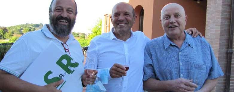 Alfio Fiori e Carlo Urbinati, vice presidente e presidente CSR, con il past president Gilberto Vittori