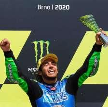 La gioia di Enea Bastianini al termine del Gran Premio della Repubblica Ceca
