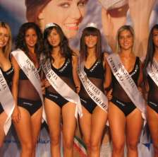 Podio Miss Italia
