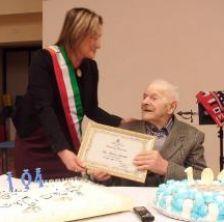 E' di Pennabilli il più longevo della nostra provincia: ha compiuto 104 anni